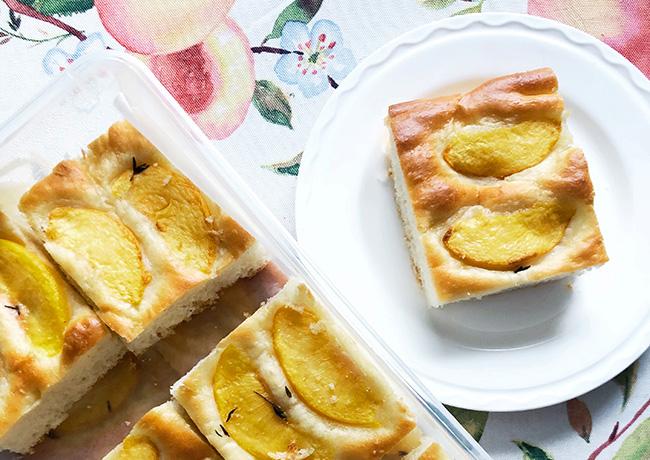 Peach Focaccia: A Peak Summer Bread (Vegan Recipe)